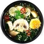 Miso soup mushrooms