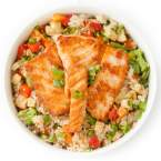 WOK Rice with Salmon and Vegetables